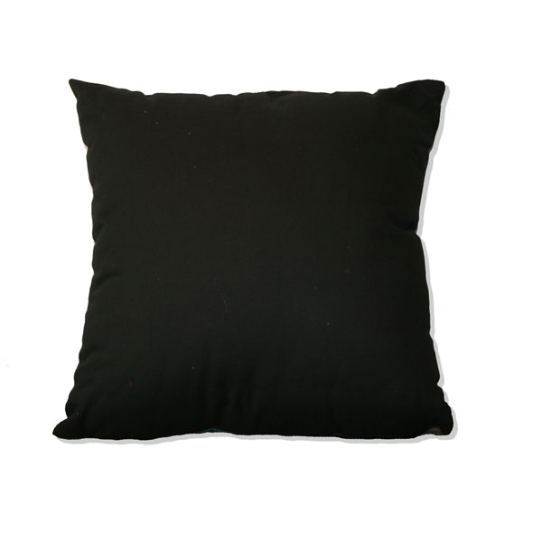 Reverse of cushion in Black