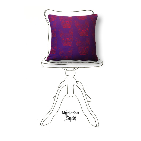Line Tony Purple Cushion