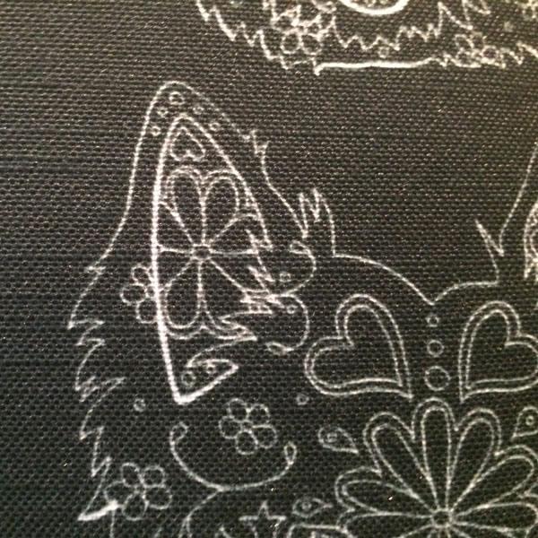 Line Bronte Black Cushion – Detail