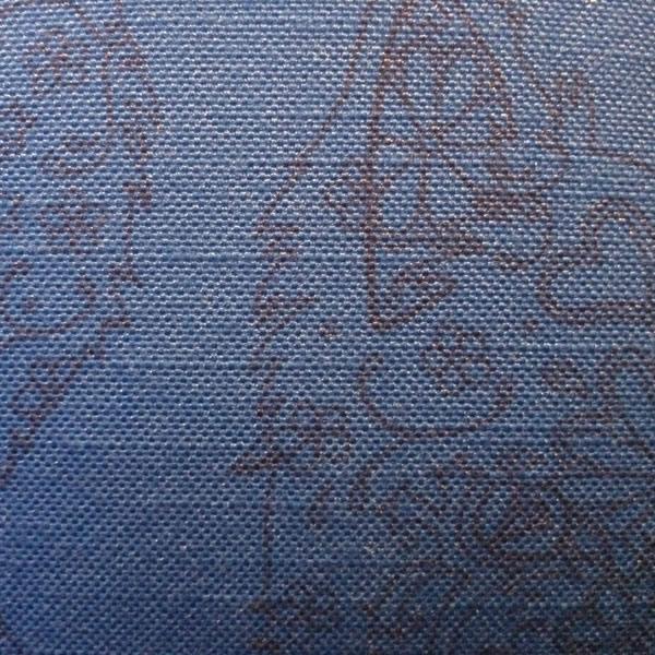 Line Bronte Blue Cushion – Detail