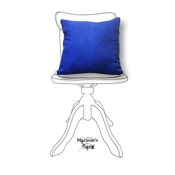 Line Bronte Blue Cushion