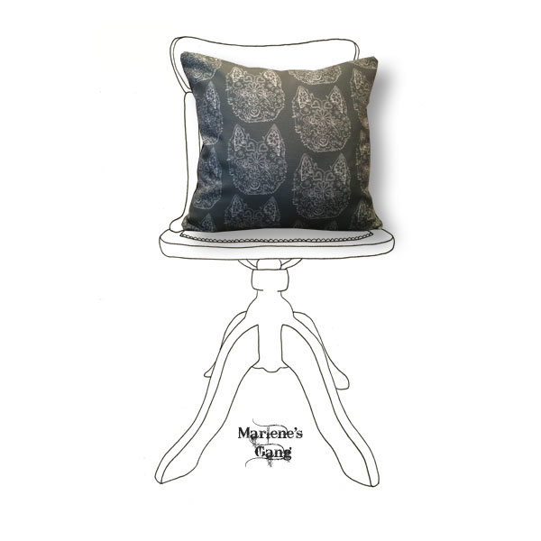 Line Bronte Grey Cushion