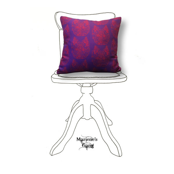 Line Bronte Purple Cushion