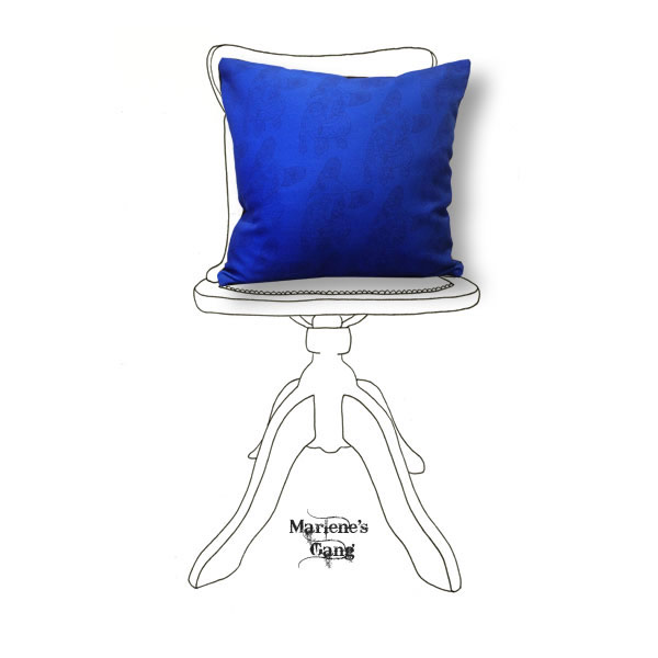 Line Hodge Blue Cushion