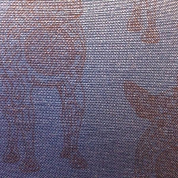 Line Lucille Blue Cushion – Detail