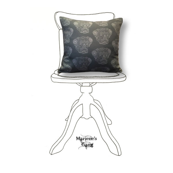 Line Ned Grey Cushion