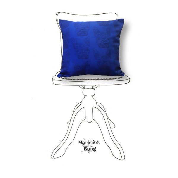 Line Tony Blue Cushion