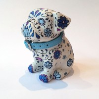SMALL DARK BLUE PUG06