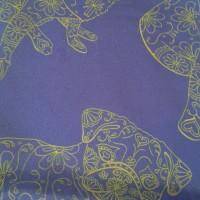 BORDER FREUD BLUE_Pocket Square_Close Up