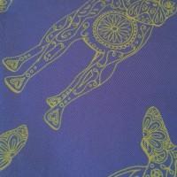 BORDER LUCILLE BLUE_Pocket Square_Close Up