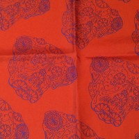 BORDER NED RED_Pocket Square_Close Up