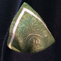 BORDER TONY GREEN_Pocket Square_Detail