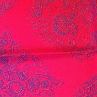 GRADIENT GOMEZ RED PURPLE_Pocket Square_Close Up
