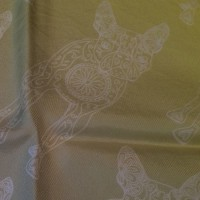 GRADIENT LUCILLE GREY YELLOW_Pocket Square_Close Up