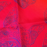 GRADIENT TONY RED PURPLE_Pocket Square_Close Up